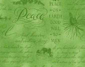 Henry Glass Christmas Elegance Peace & Joy Fabric