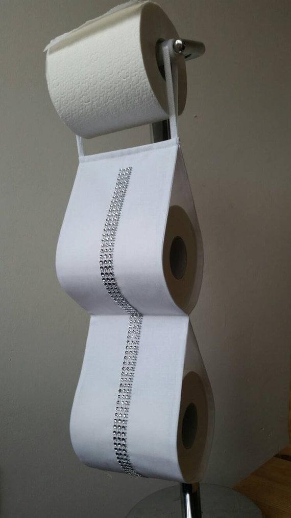 Fabric Decorative Toilet Paper Holder Storage 2 Rolls