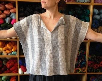 pdf knitting pattern, pdf instructions, instructions to make, knitting pattern, stripe top pattern, boxy top pattern