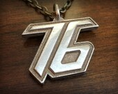 Overwatch Soldier 76 3D Printed Stainless Steel Pendant