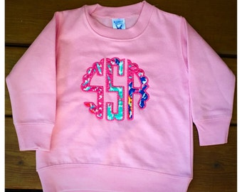 Monogrammed Lilly Pulitzer Toddler Sweatshirt