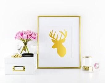 Deer Silhouette Wall Print-gallery wall art