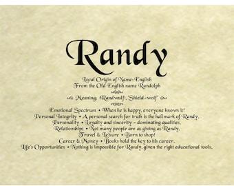 Single Name Origin On Antique Parchment Keepsake