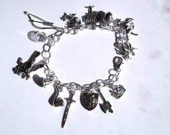 Tolkein LOTR Middle Earth Themed Charm Bracelet