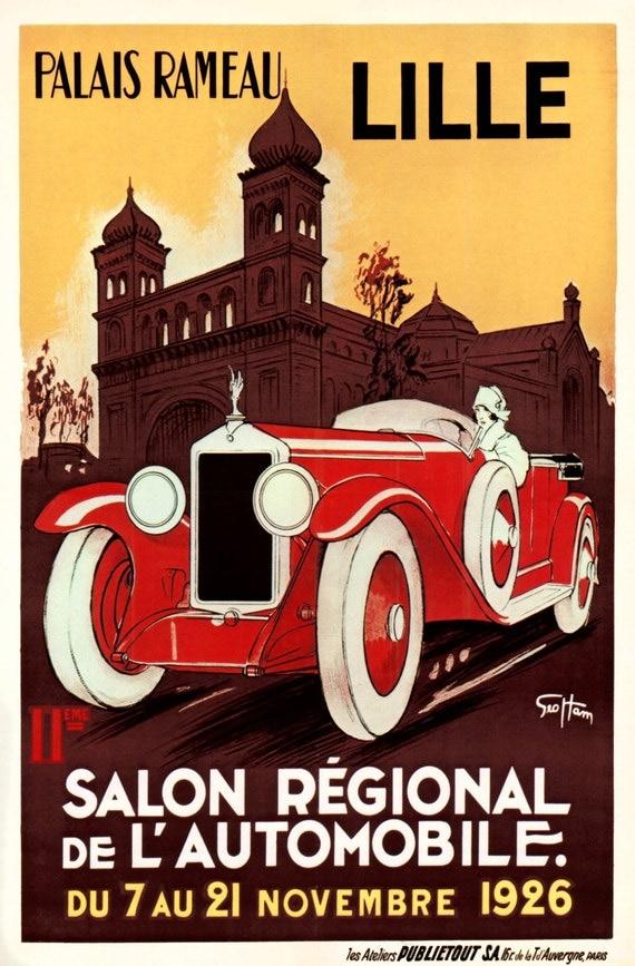 Palais rameau lille vintage travel poster - Boutique vintage lille ...