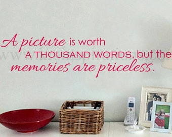 Pictures and Memories wall decal