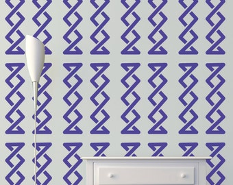 Twist Wall Stencil, Wall Art Stencil  in reusable Mylar, wall art, small to large stencils up to 19.5 x 27.5 inches.