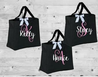 bridal totes, bridal bags, bride bag, bridesmaid tote, monogrammed tote, mongrammed bag