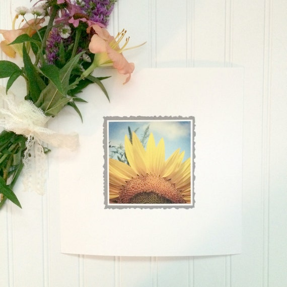 Facing The Sunshine Sunflower 10x10 inch Photo Art Print