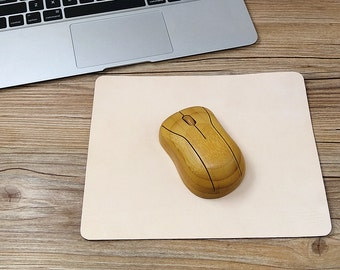 Leather Mouse Pad, Personalized Mousepad, Computer Accessory, Mouse Pad Monogrammed, Vegetable Tanned Leather