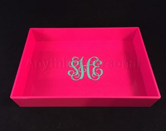 Monogrammed Desk Tray, Jewelry Tray, Trinket Tray, Bridal Gift, Bridesmaid Gift, Personalized Gift, Monogrammed Tray, Desk Accessory