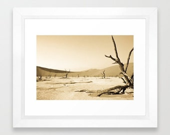 Instant Digital Download, Printable Art, Solitude, Landscape Photography, Nature, Namibia, Africa, Desert, Sepia, Fine Art Photography, Art