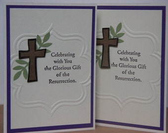 Christian Easter Card. Resurrection Day Card. Religious Easter Cards. Handmade Greeting Card. Christian Cross Card.  New Believer Card