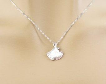 Ginkgo, Leaf, Silver, Necklace, Leaf, Necklace, Leaf, Jewelry, Unique, Dainty, Minimal, Jewelry, For, Everyone, Birthday, Friendship, Gift