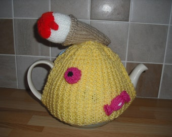 Hand Knitted Tea Cosy with Sweeties & Ice Cream