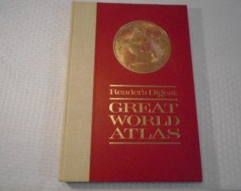 Readers Digest Great World Atlas  / 1963 world atlas / readers digest / Atlas / Readers Digest Atlas / Maps / World history