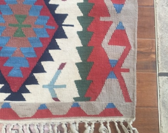 Vintage Kilim Turkish Rug 4'x6'