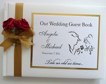 Beauty & The Beast Personalised Wedding Guest Book