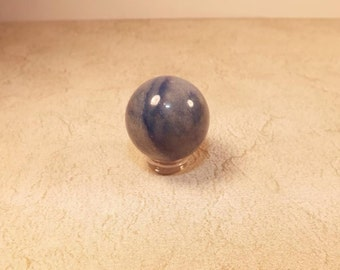 Sodalite Sphere, 20 mm Polished Stone, Blue Sodalite Sphere,  Supplies for Dowsing, Meditation, Cleansing - Metaphysical