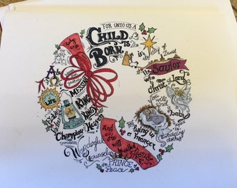 A Child Is Born Christmas Card Set