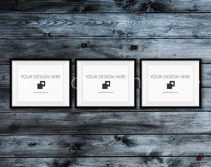 BLACK FRAME MOCKUP, 8x10, Set of 3, Empty Mockup Frame, Black Frame Mock-Up, Digital Frame Mockup for download, Frame Mockup, Download File