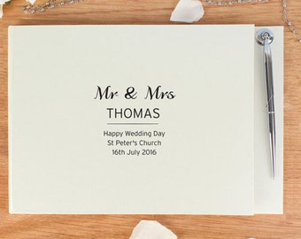 Personalised WEDDING GUEST BOOK, Party Guest Book - Wedding, Engagement, Anniversary Gift