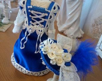 Dollhouse miniatures dolls dress manual fashion doll 1:12 fashion shop or dolls