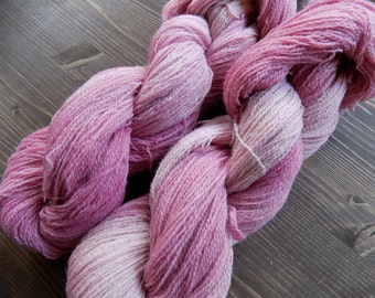 Hand Dyed Yarn, Lace Weight, Merino Wool / Suri Alpaca, Pink