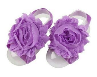 Lilac Barefoot Baby Sandals - Barefoot Sandals - Lilac Cake Smash Prop - Newborn Photo Prop - Infant Sandals - Newborn Sandals - Lilac Shoe