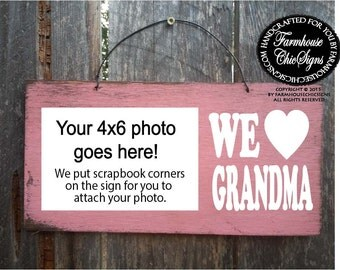 gift for grandma, Grandma Picture Frame, Grandma gift, Christmas gift for grandma, grandma Christmas, grandma sign, 130
