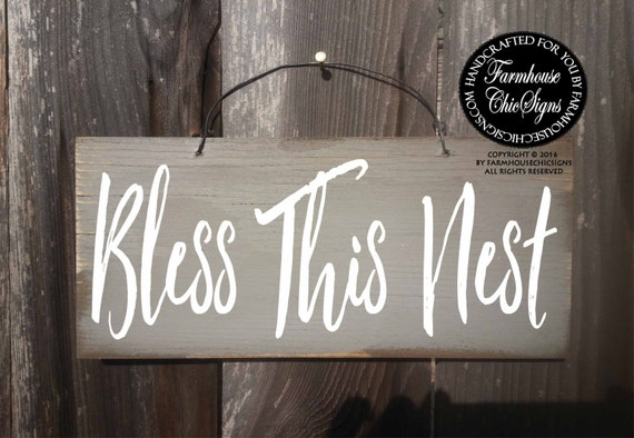 bless this nest, bless this home, blessed, bless this nest sign, bless this home sign, housewarming gift, new home gift