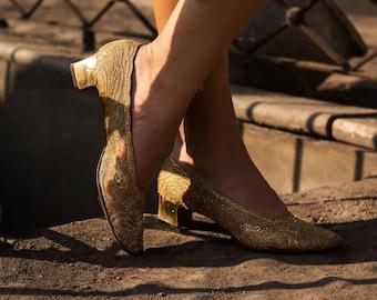 Vintage Frank More 1950's Golden Shoes