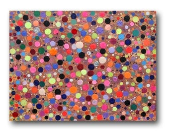 """XL Original abstract painting 40""""  huge canvas by Julia Sadeh - Free shipping in UK"""