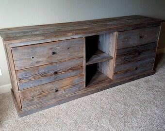 Reclaimed wood dresser, Wood dresser, Dresser, Distressed dresser, Vintage Dresser, Grey Dresser, Old wood Dresser, Beautiful Dresser