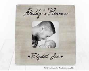 Fathers Day Daddy's Little Girl Frame, Gift for Dad, Daddy's Girl Frame, Father Daughter Frame, Daddy's Princess, Dad Gift from daughter