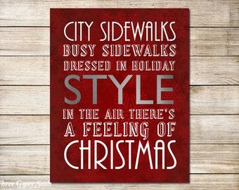 PRINTABLE ART Christmas Printable Holiday Decor Winter Decor Holiday Printable