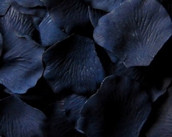 Navy Blue Silk Petals {Package of 100}