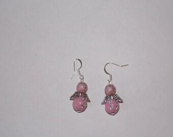 dangle earrings rose cut diamonds Angels