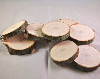 Small Pine Discs - Wooden Cookie - Rustic - Pine - 8 to a bundle