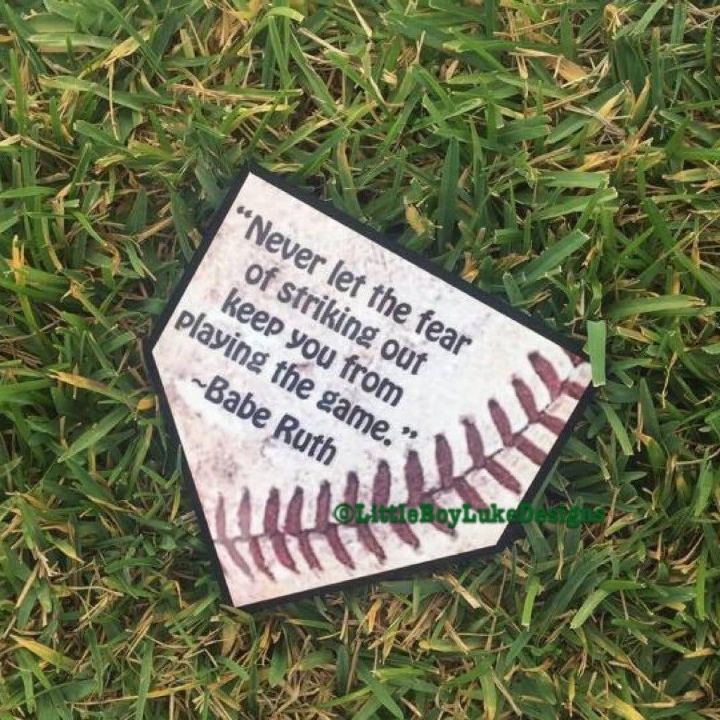 Baseball Home Decor: Baseball Decor Baseball Plaque Home Plate Decor Home