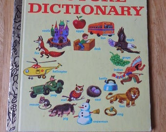 "Vintage Little Golden book ""Picture Dictionary"" 1978 Little Golden Book"