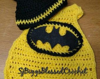Crochet batman,crochet batgirl,super hero,crochet bat girl,batman cape,batman hat,bat girl cape,batgirl cape,comic,batman blanket,photo prop