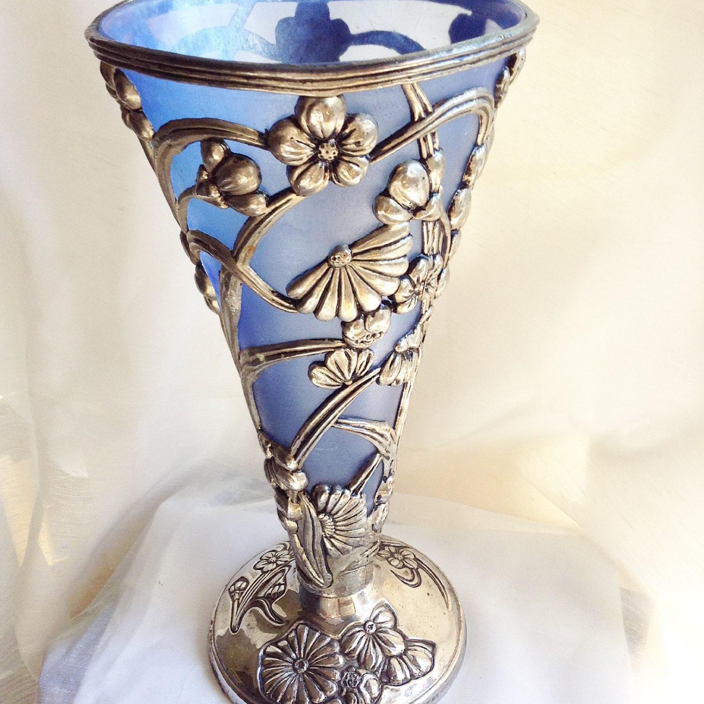 art deco vase art deco trumpet vase silver vase vase. Black Bedroom Furniture Sets. Home Design Ideas