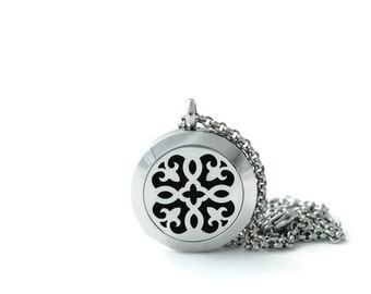 Petite Silver Diffuser Necklace-Stainless Steel-Diffuser Necklace-Free Shipping