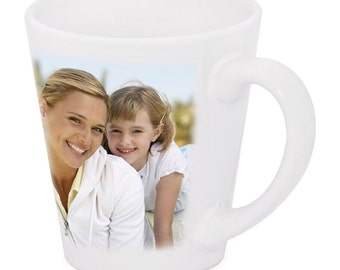 New Custom / Personalized White 12oz Ceramic Latte Mug