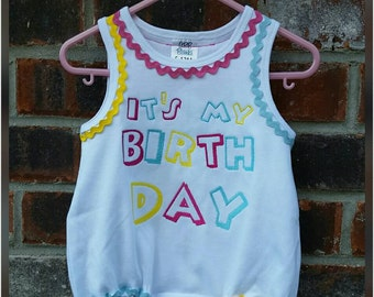First birthday Outfit, First Birthday Bubble, First Birthday Romper, It's My Birthday