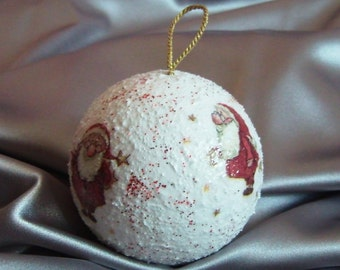 Ball with Christmas decorations