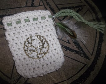 Tree of Life Coton Pouch Hand Made