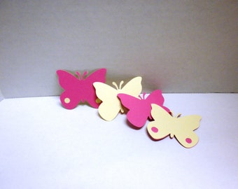 Pink & Cream Butterfly Die cuts-Butterflies, Die Cuts, Scrapbooking, Embellishments, Flower Die Cuts-DCB-43