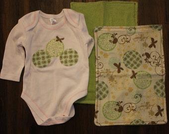 Onesie and Burp Cloth Set